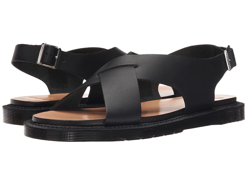 Dr. Martens - Abella Ankle Strap Sand (Black Semi Chrome) Women's Sandals