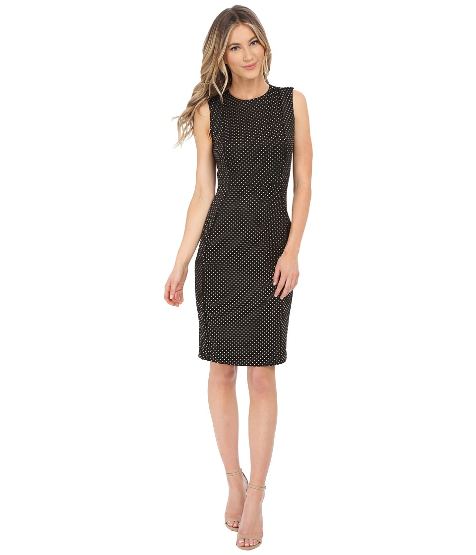 Calvin Klein - Sheath with Hot Fix Details (Black/Gold) Women's Dress