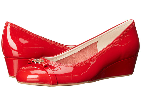 Cole Haan - Elsie Logo Wedge II (Tango Red/Tango Red Patent) Women's Wedge Shoes