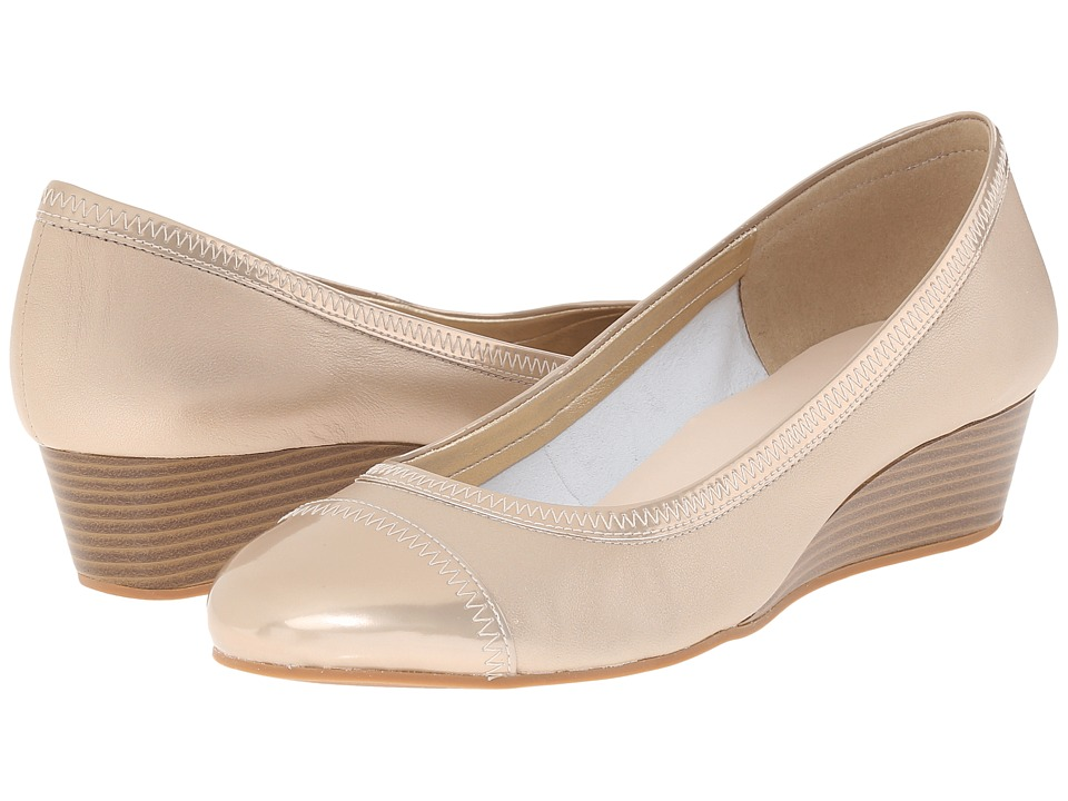 Cole Haan - Elsie Cap Toe Wedge II (Soft Gold Metallic) Women's Wedge Shoes