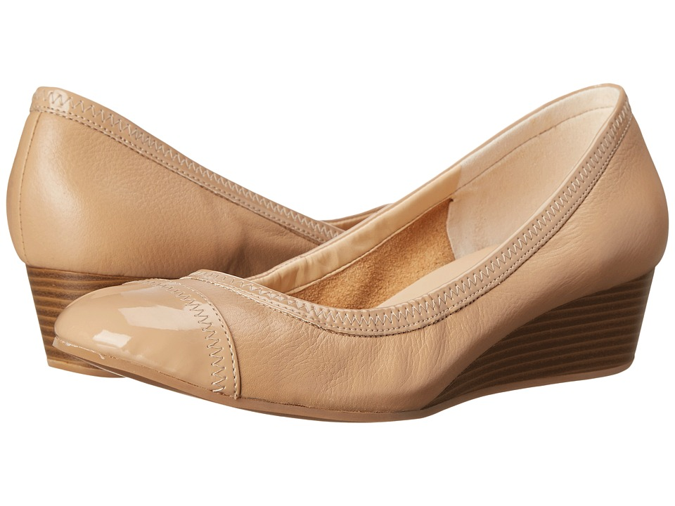 Cole Haan - Elsie Cap Toe Wedge II (Maple Sugar/Patent) Women's Wedge Shoes