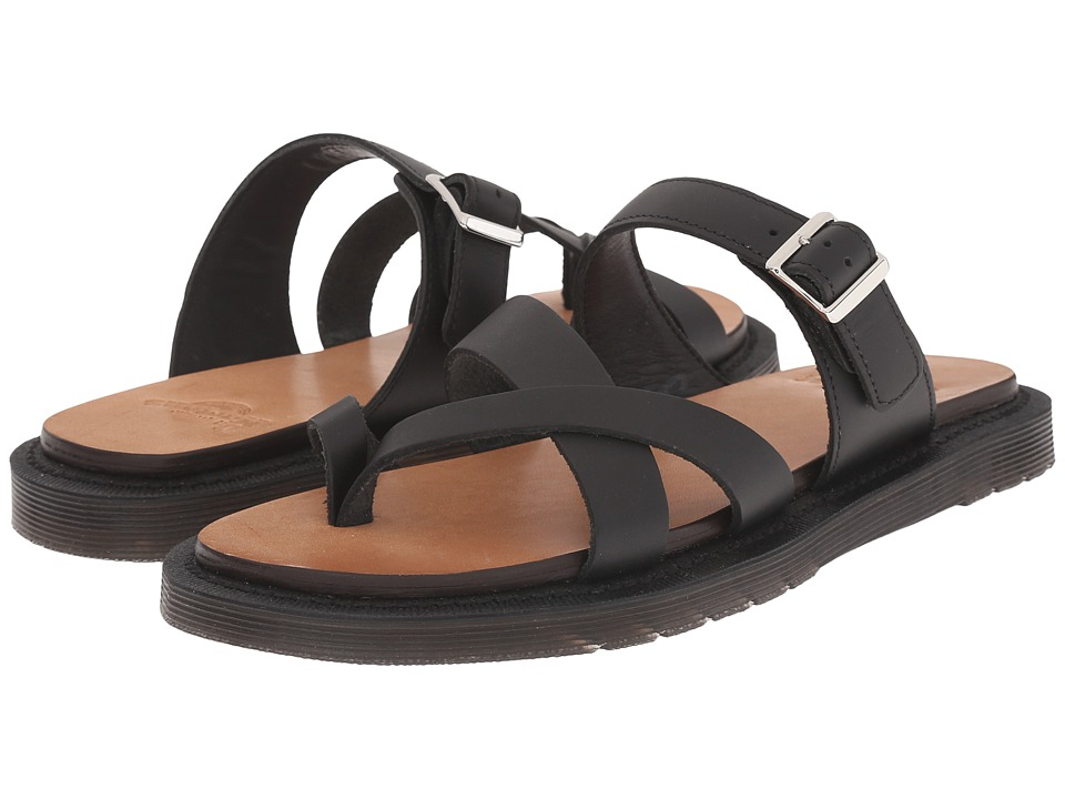 Dr. Martens - Kassy Strappy Toe Post (Black Semi Chrome) Women's Sandals