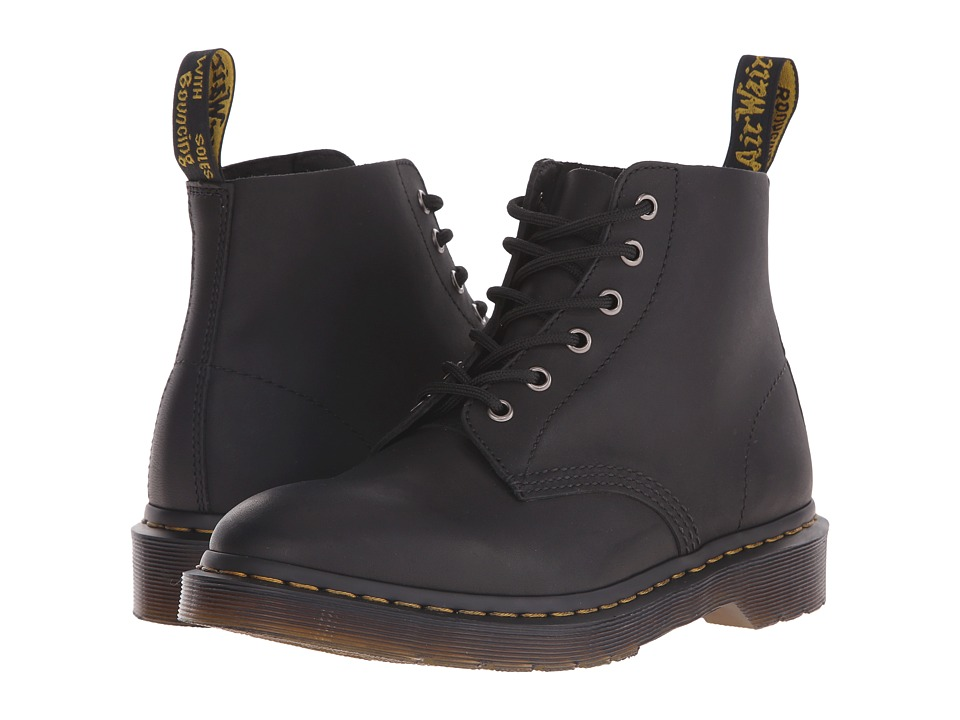 Dr. Martens - Ali 6-Eye Boot (Black Greasy) Lace-up Boots