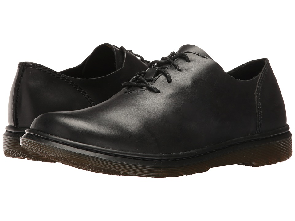 Dr. Martens - Lorrie Lace Shoe (Black Polished Oily Illusion) Women's Lace up casual Shoes