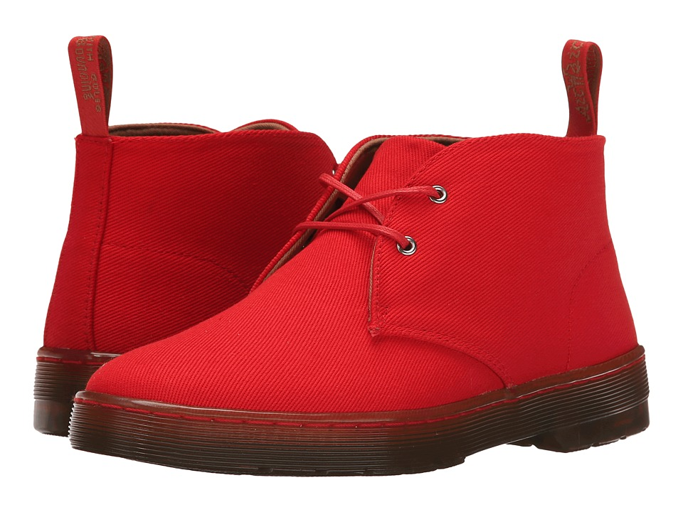 Dr. Martens - Daytona Desert Boot (Red Overdyed Twill Canvas) Women's Lace-up Boots