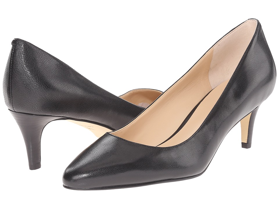Cole Haan - Lena Mid Pump II (Black) Women's 1-2 inch heel Shoes