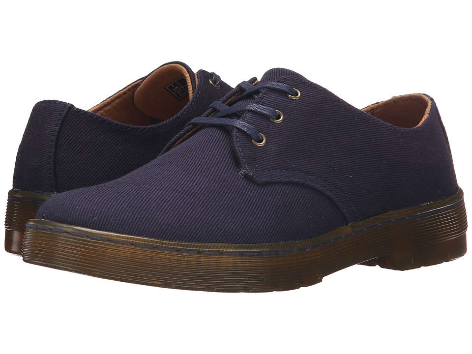 Dr. Martens - Gizelle 3-Eye Shoe (Navy Overdyed Twill Canvas) Women's Lace up casual Shoes