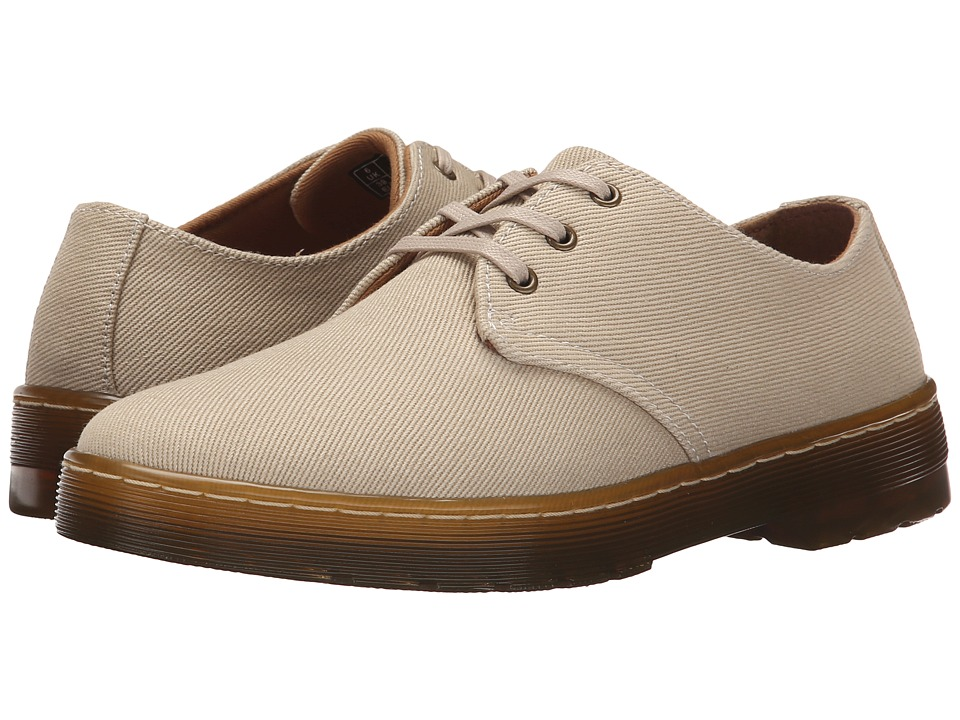 Dr. Martens - Gizelle 3-Eye Shoe (Sand Overdyed Twill Canvas) Women's Lace up casual Shoes