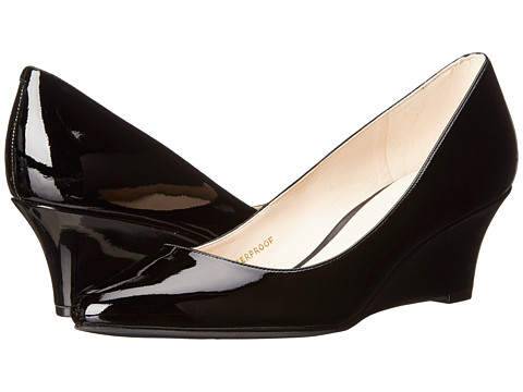 Cole Haan - Lena Wedge WP 55mm II (Black Patent WP) Women's Wedge Shoes