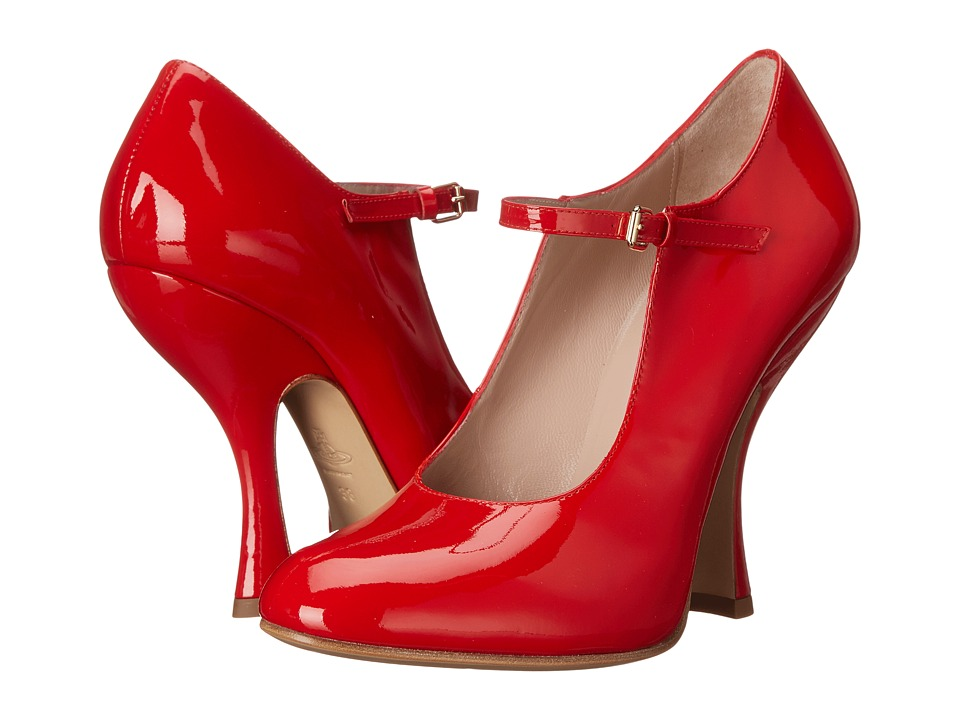 Vivienne Westwood - Maryjane Patent Heel (Red) Women's Maryjane Shoes