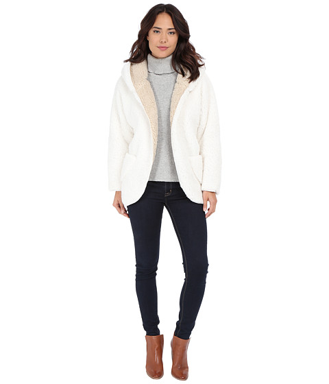 Gabriella Rocha - Rowan Fuzzy Reversible Jacket (Off-White/Taupe) Women's Coat