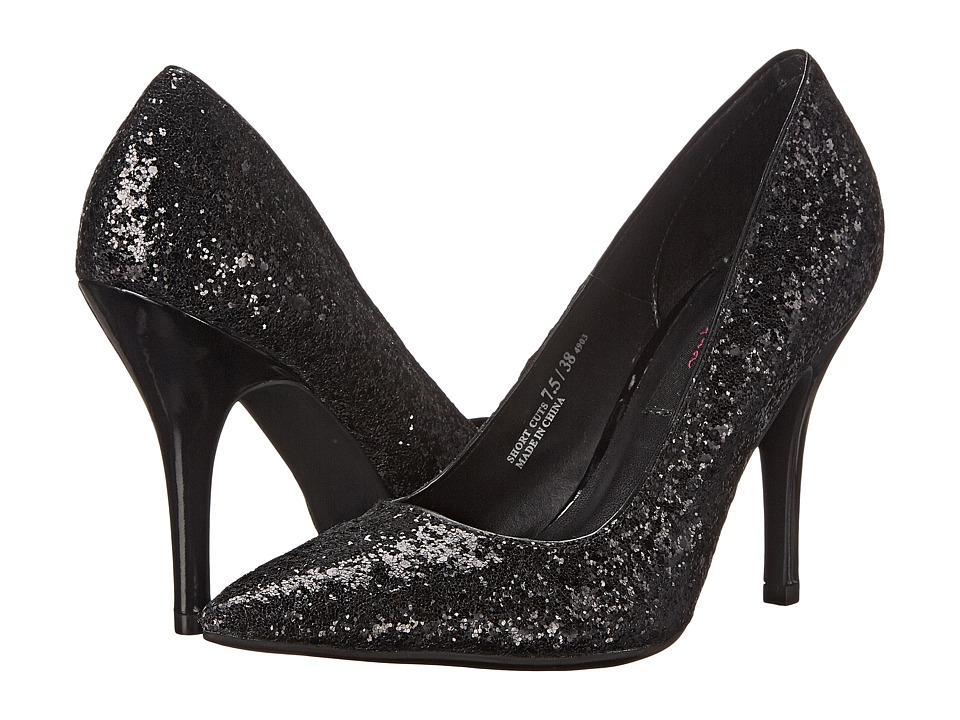 Chinese Laundry - Elise - Short Cuts (Black Glitter) High Heels