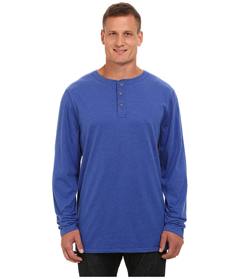 Nautica Big & Tall - Big Tall Long Sleeve Chief Value Cotton Jersey Henley (Twilght Sky) Men