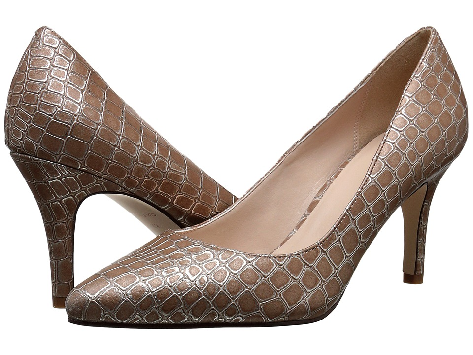 Cole Haan - Juliana Pump 75mm (Beige Croc Print) High Heels