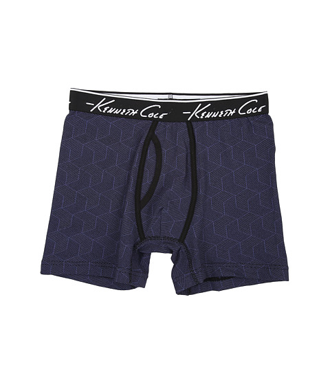 Kenneth Cole Reaction - Boxer Brief (Blue Stripe Cube) Men
