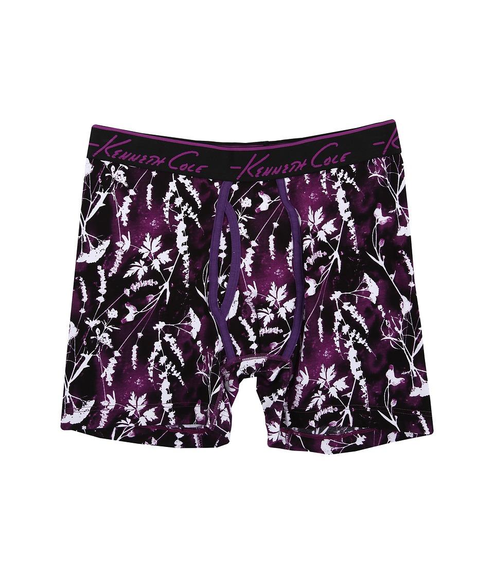 Kenneth Cole Reaction - Boxer Brief (Purple Flower) Men's Underwear