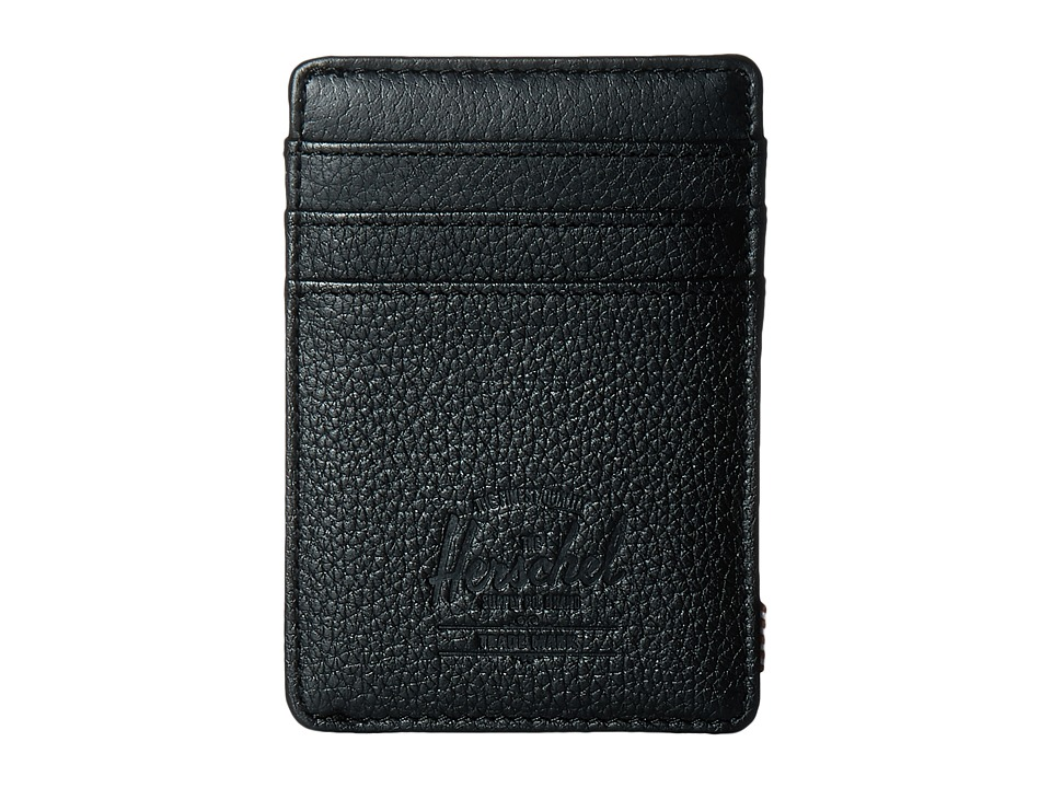 Herschel Supply Co. - Raven Leather (Black Pebbled Leather) Credit card Wallet