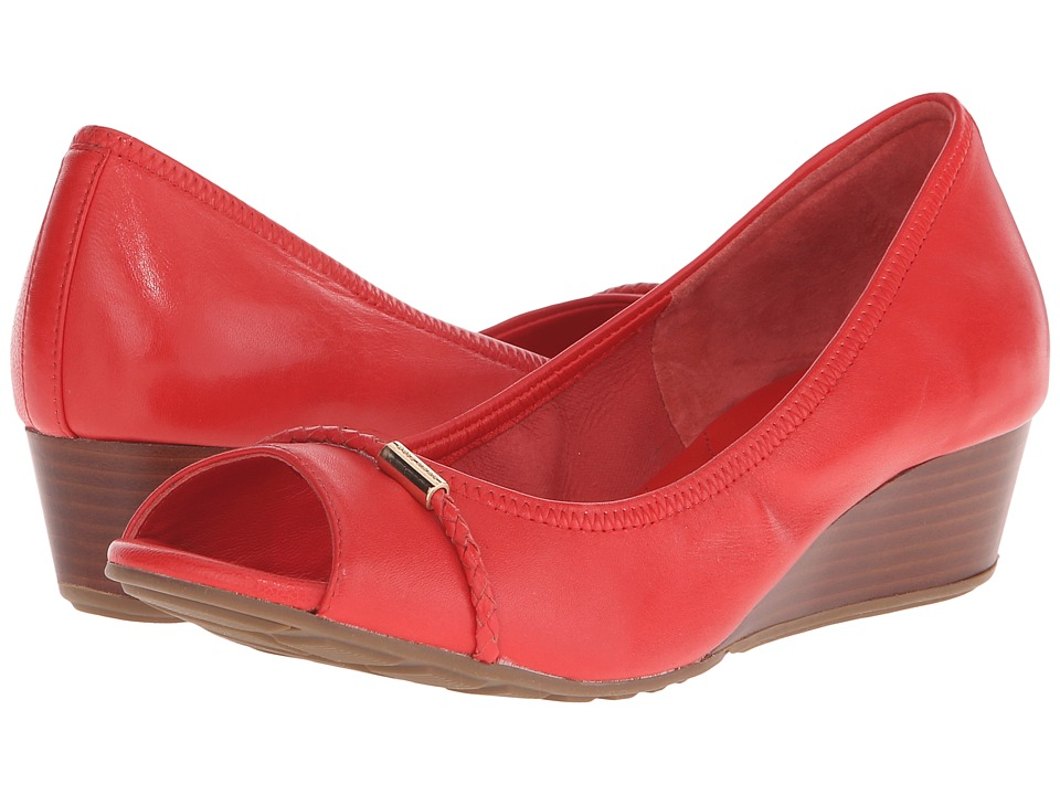 Cole Haan - Tali OT Wedge Braided Band 40 (Poppy Leather) Women's Wedge Shoes