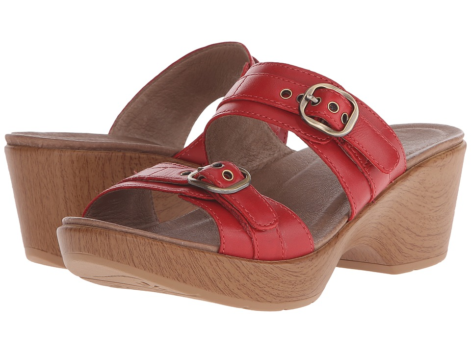 Dansko Jessie (Red Full Grain 1) Women
