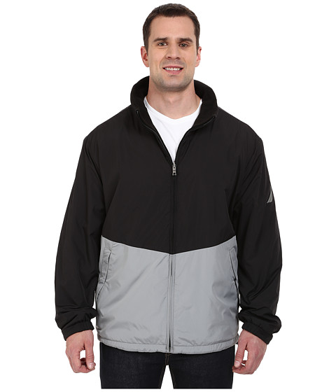 Nautica Big & Tall - Big Tall Reversible Bomber (Radial Grey) Men's Coat