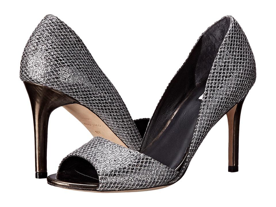 Cole Haan Antonia Open Toe Pump (Silver/Gunmetal Glitter/Dark Silver Metallic) High Heels