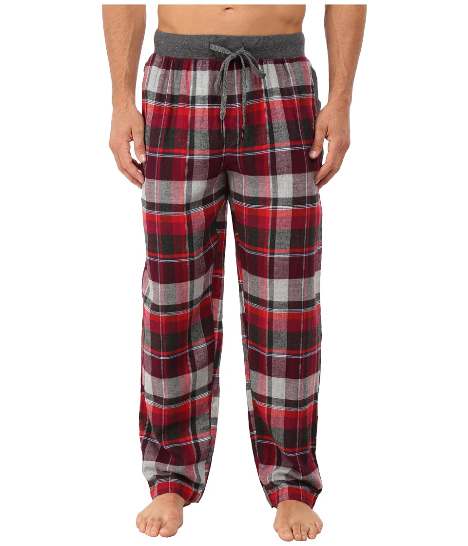Kenneth Cole Reaction - Flannel Sleep Pants (Red Madison Plaid) Men's Underwear