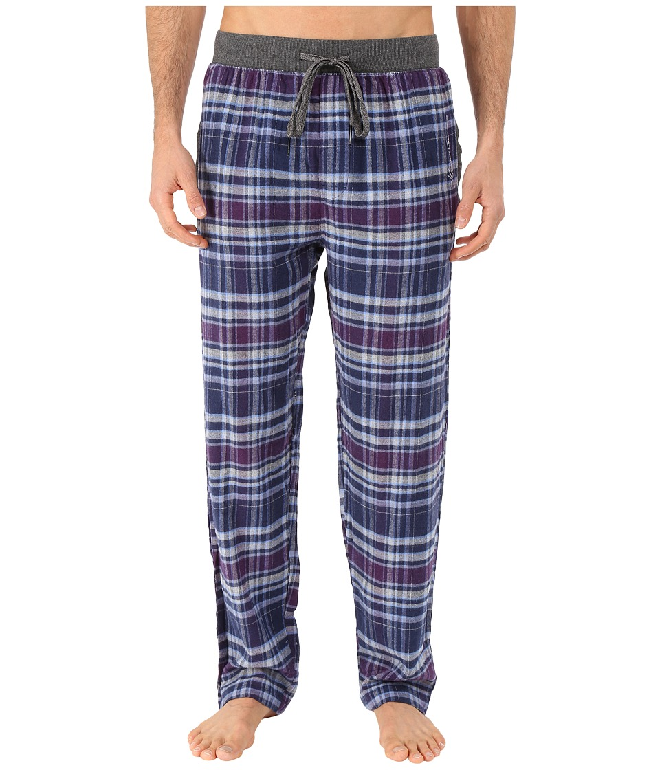 Kenneth Cole Reaction - Print Flannel Pants (Purple Brooklyn Plaid) Men's Pajama
