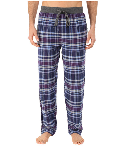 Kenneth Cole Reaction - Print Flannel Pants (Purple Brooklyn Plaid) Men