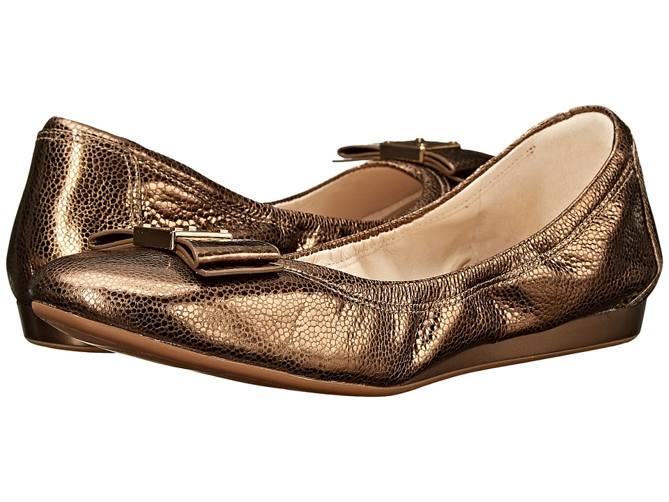 Cole Haan - Tali Bow Ballet (Gold Metallic) Women's Slip on Shoes