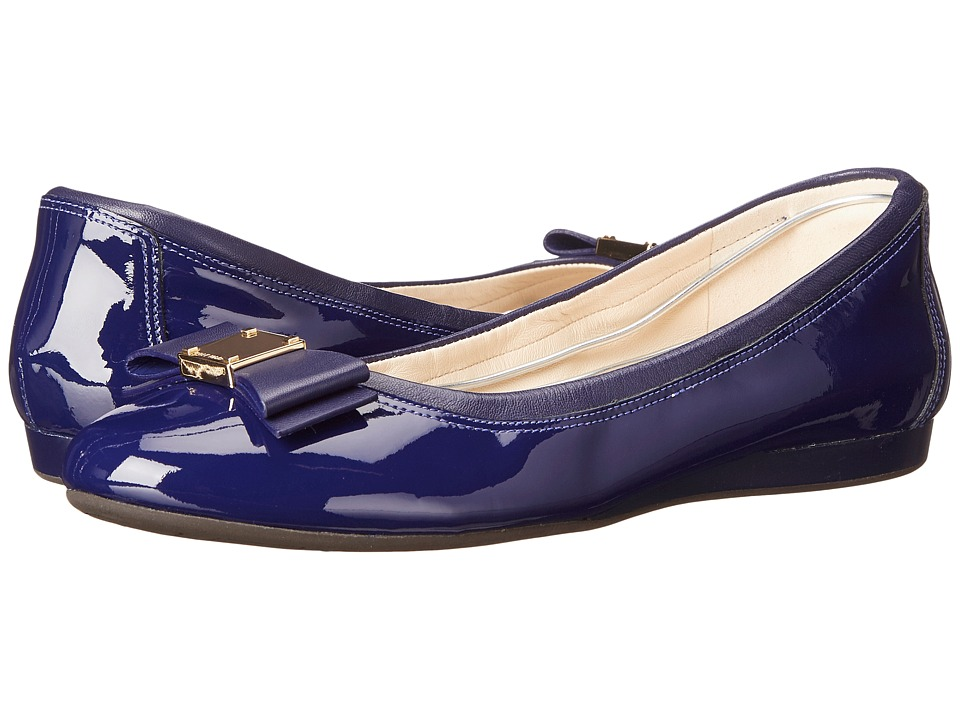 Cole Haan - Tali Bow Ballet (Astral Blue Patent/Astral Blue) Women's Slip on Shoes