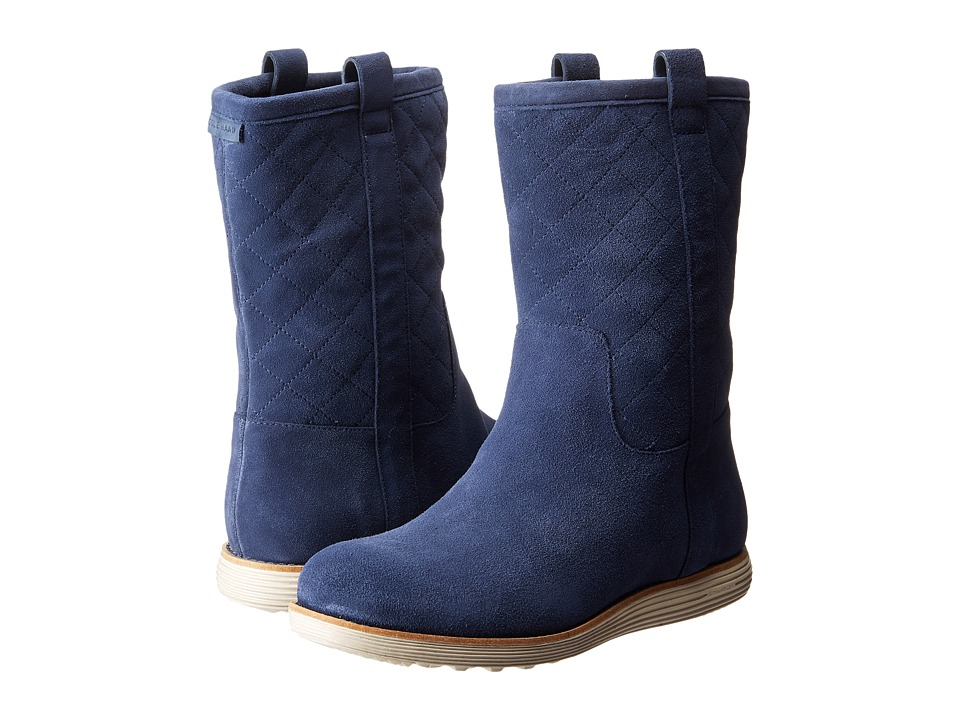 Cole Haan - Roper Grand Boot (Blazer Blue Suede) Women's Lace-up Boots