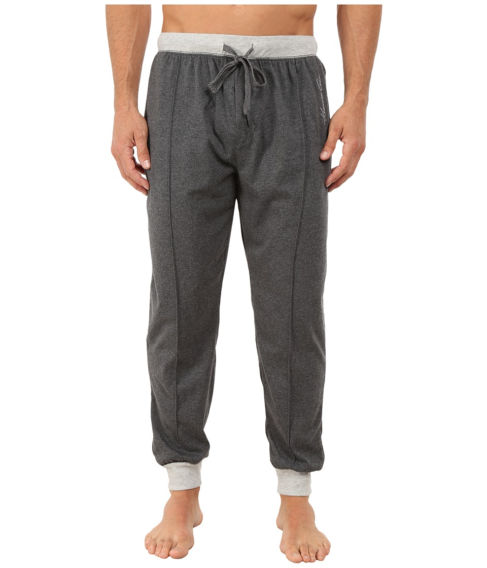 Kenneth Cole Reaction - Sueded Jersey Cuffed Pants (Dark Heather Grey) Men