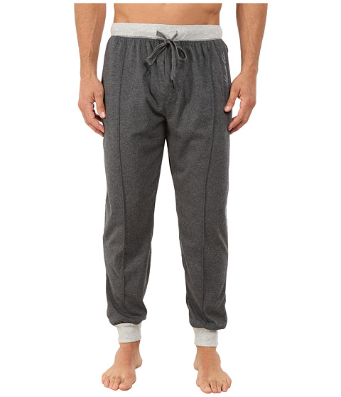 Kenneth Cole Reaction - Sueded Jersey Cuffed Pants (Dark Heather Grey) Men's Underwear