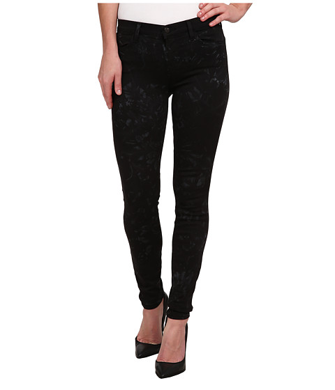 J Brand - Mid Rise Printed Super Skinny in Shattered Glass (Shattered Glass) Women