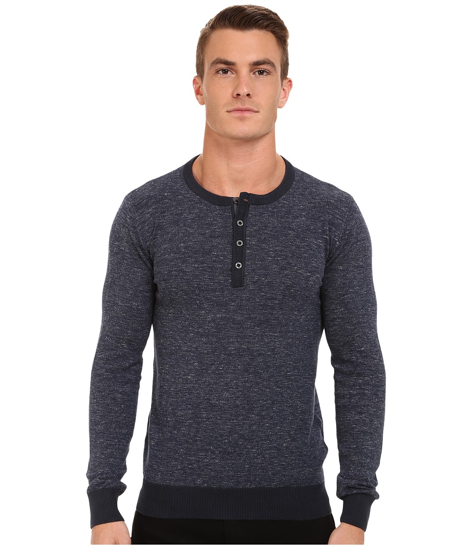Mavi Jeans - Henley Sweater (Indigo) Men's Sweater