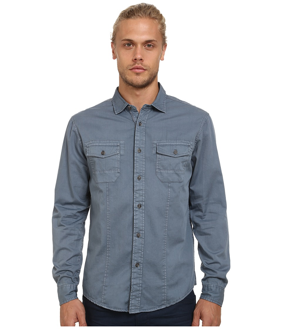 Mavi Jeans - Folded Sleeve Shirt (Moonlight Blue) Men's Clothing
