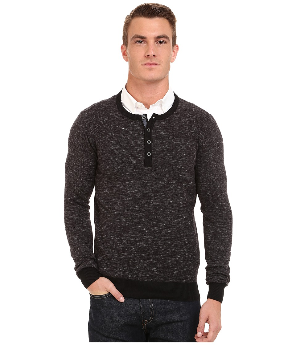 Mavi Jeans - Henley Sweater (Black) Men's Sweater