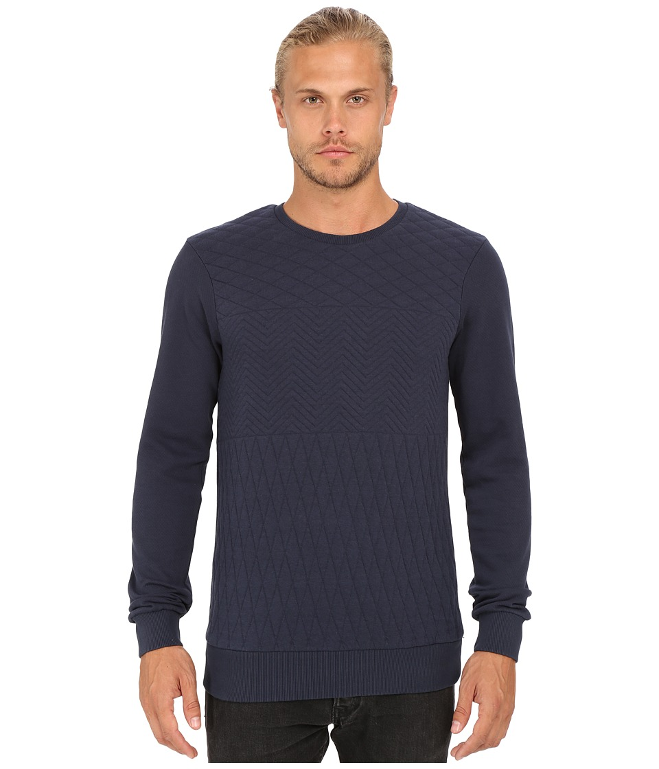 Mavi Jeans - Quilted Sweatshirt (Total Eclipse) Men's Sweatshirt