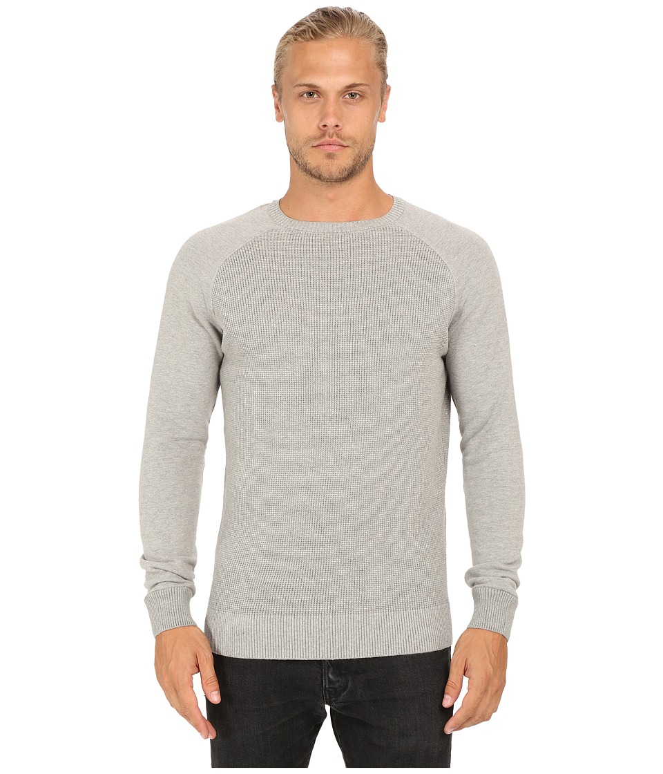 Mavi Jeans - Crew Neck Sweater (Grey Melange) Men's Sweater