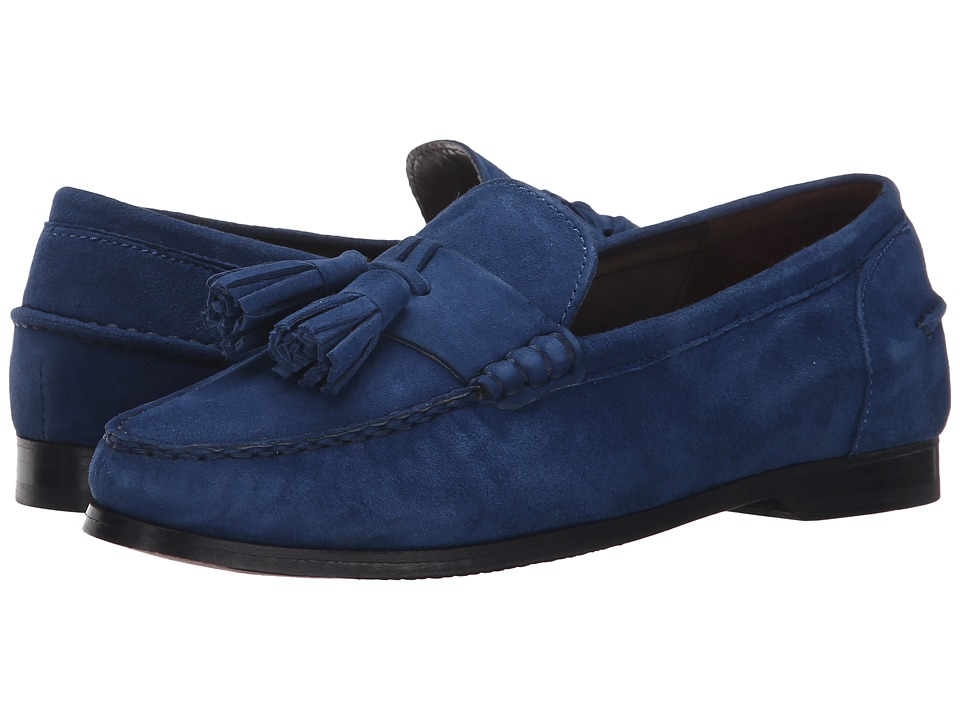 Cole Haan - Pinch Grand Tassel (Estate Blue Suede) Women's Slip on Shoes