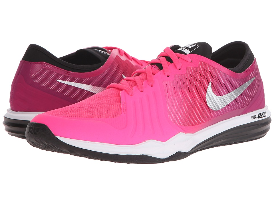 Nike - Dual Fusion TR 4 Print (Hyper Pink/Dynamic Berry/Black/Metallic Silver) Women's Cross Training Shoes