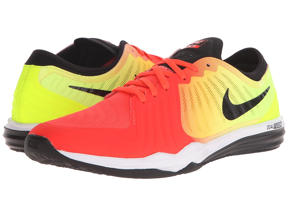 Nike - Dual Fusion TR 4 Print (Bright Crimson/Volt/Laser Orange/Black) Women's Cross Training Shoes
