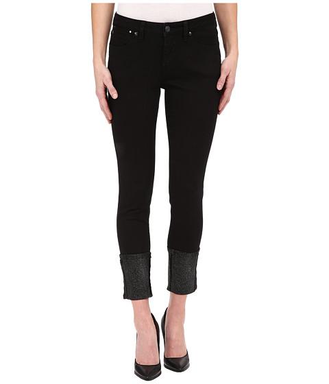 Jag Jeans - Evan Long Glitter Cuff Capital Denim in Black (Black) Women