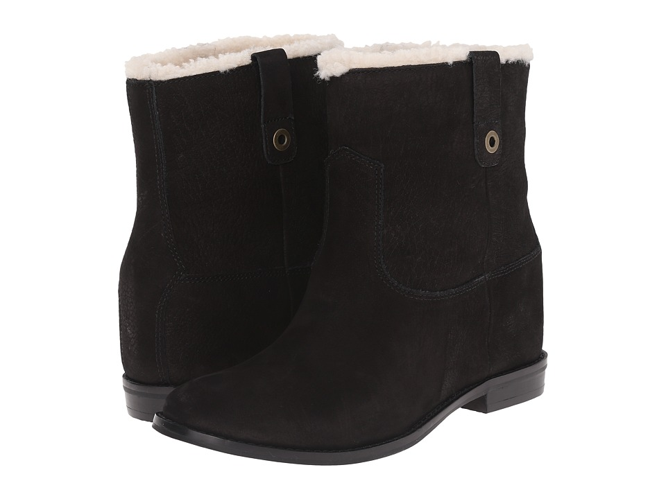 Cole Haan Zillie WP Shearling Bootie (Black Leather/Shearling) Women