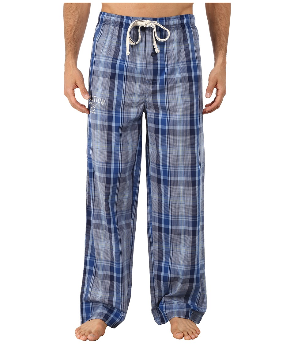 Kenneth Cole Reaction - Woven Sleep Pants (Blue Soho Plaid) Men