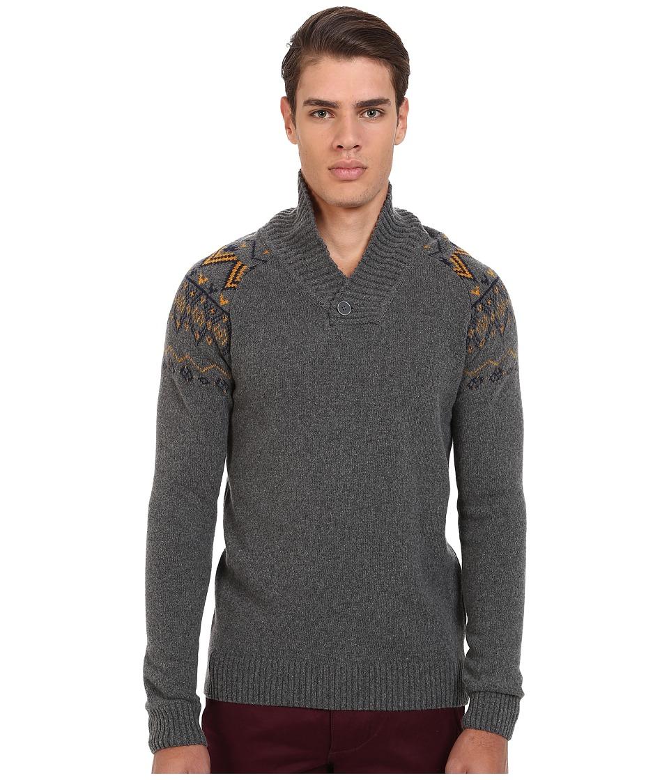 Mavi Jeans - Tribal Print on Upper Arms Sweater (Mid Grey Melange) Men