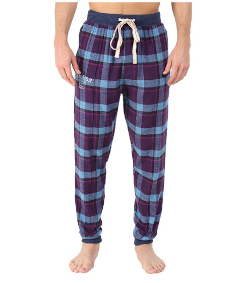 Kenneth Cole Reaction - Cuffed Flannel Pants (Purple Freedom Plaid) Men
