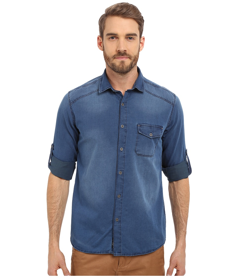 Mavi Jeans - Denim Button Down (Indigo) Men's Long Sleeve Button Up