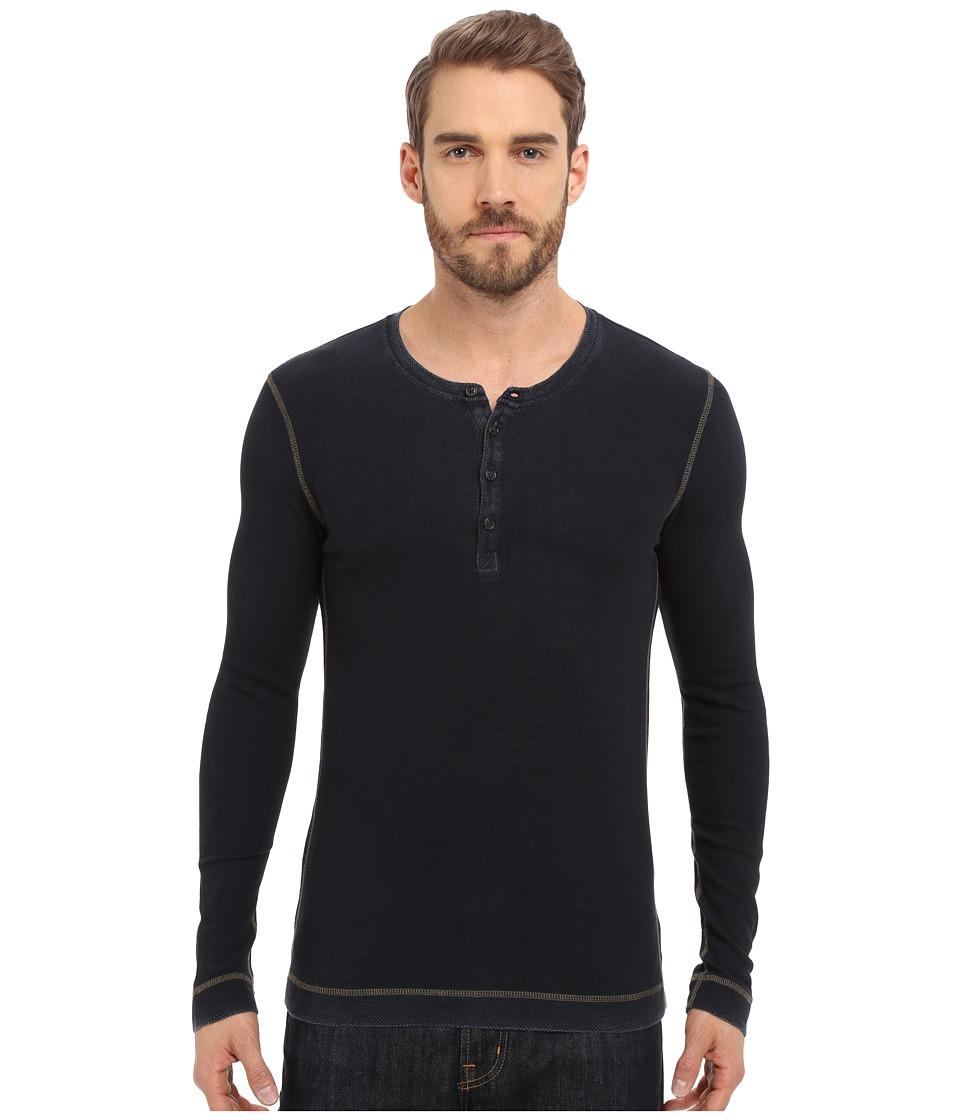 Mavi Jeans - Long Sleeve T-Shirt with Buttons (Indigo) Men's T Shirt