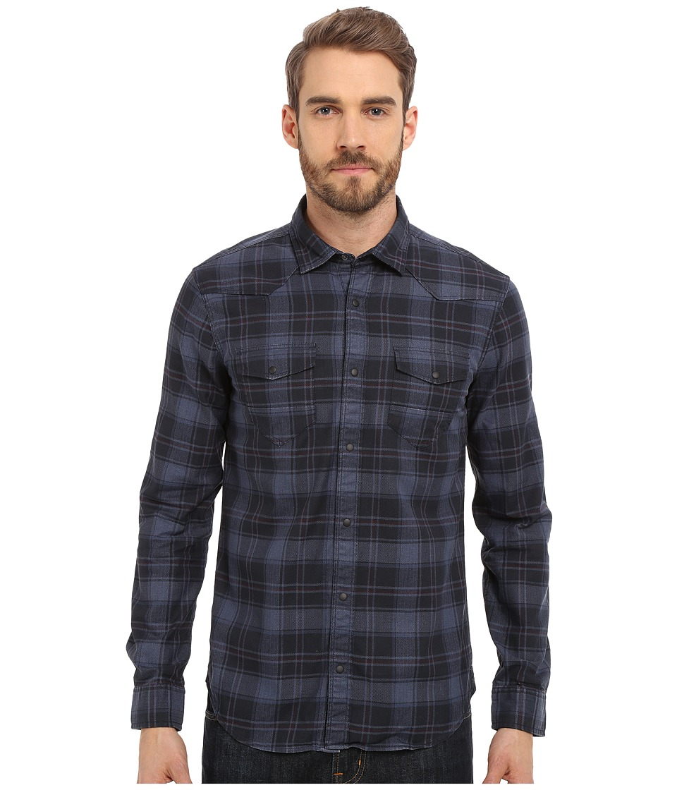 Mavi Jeans - Plaid Button Down (Dress Blue Checked) Men's Long Sleeve Button Up